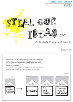courtesy of advertising age and steal our ideas from adage.com top5-blog-stealourideas-052509